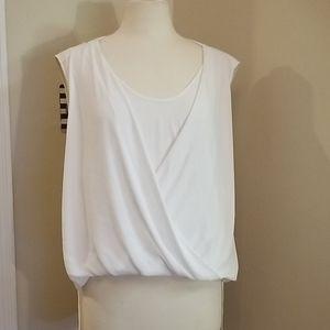 BCBG Nicoleta double strap blouse